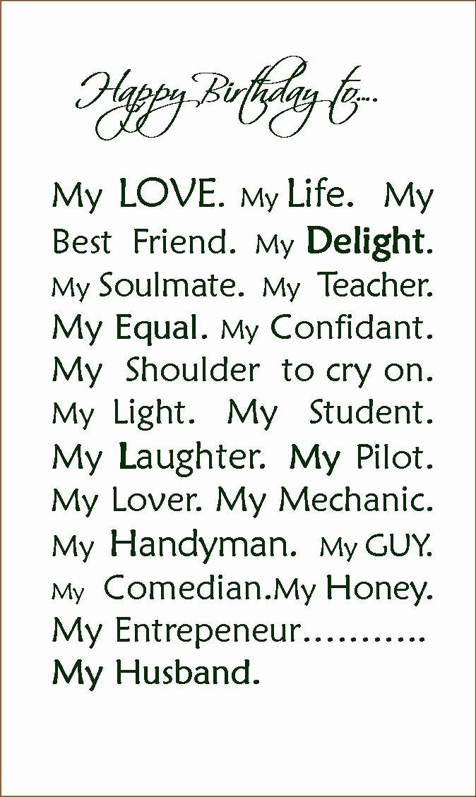 Birthday Letter to My Husband Elegant Happy Birthday to My Husband Quotes Quotesgram