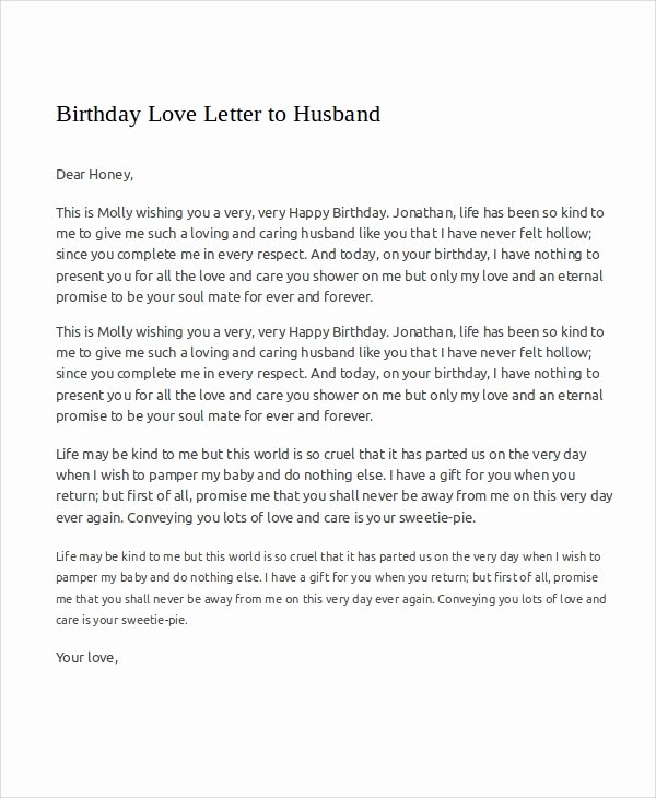Birthday Letter to My Husband Lovely Sample Love Letters to My Husband 7 Examples In Word Pdf