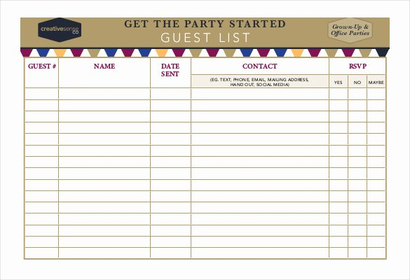Birthday Party Guest List Template Luxury 23 Birthday List Templates Free Sample Example format