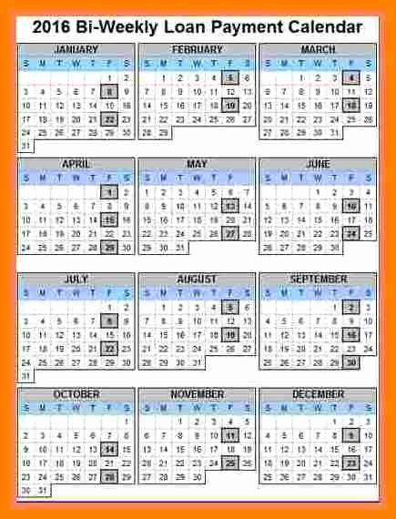 Biweekly Payroll Calendar Template 2017 Unique 7 Payroll Calendar 2018 Template