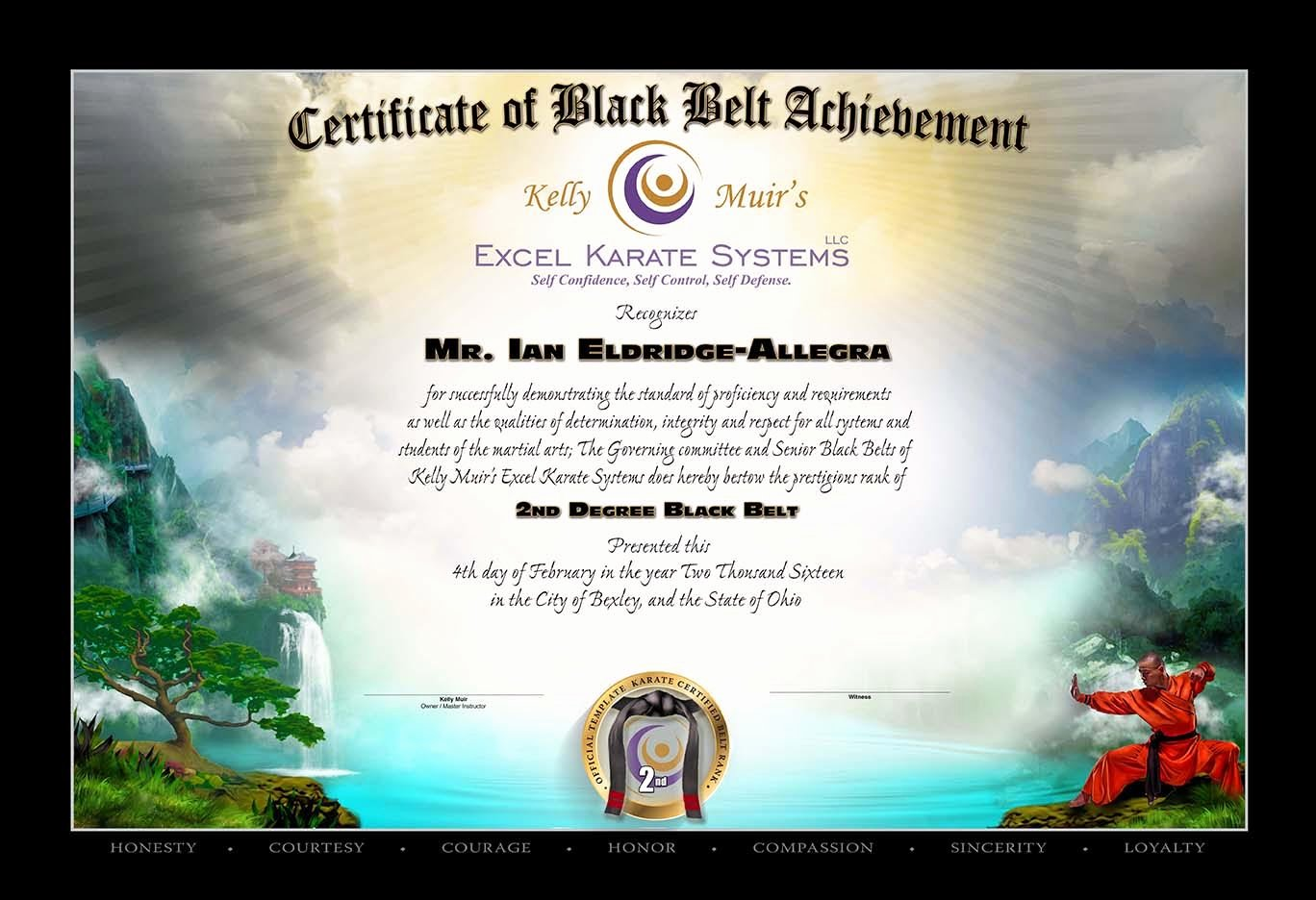Black Belt Certificate Template Best Of Kelly Muir S Excel Karate Black Belt Testing Feb 4