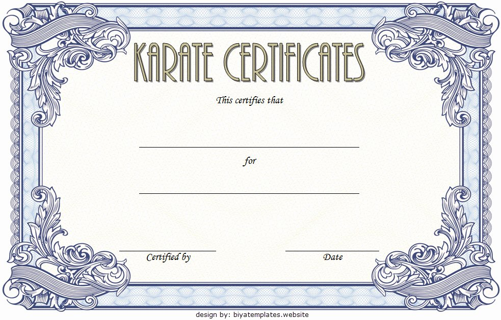 Black Belt Certificate Template Elegant Karate Certificate Template 10 Great Fighter Awards