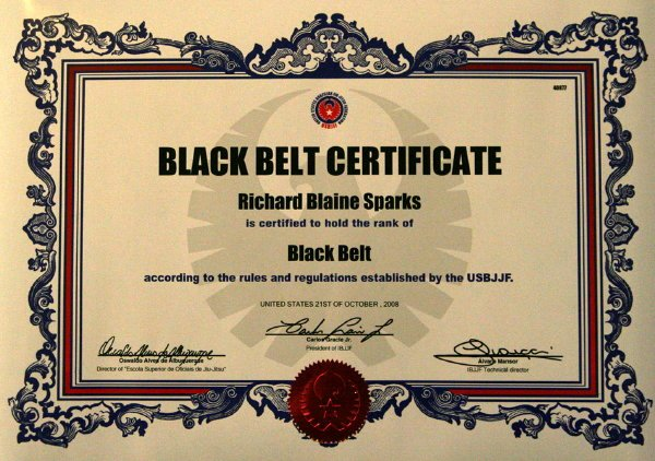 Black Belt Certificate Template Lovely Untitled Document [tnbjj]