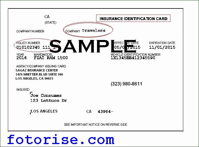 Blank Auto Insurance Card Template New Car Insurance Id Card Blog Otomotif Keren