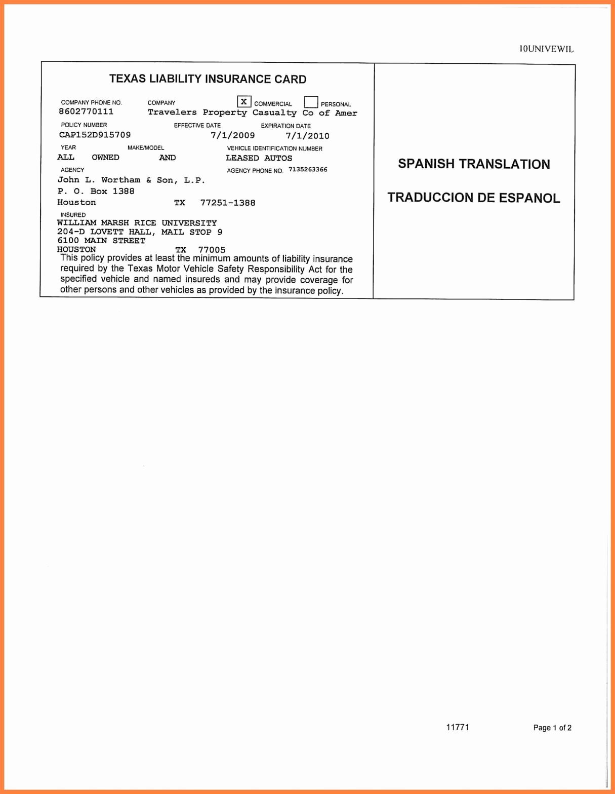 Blank Auto Insurance Card Template Unique Free Blank Insurance Card Template