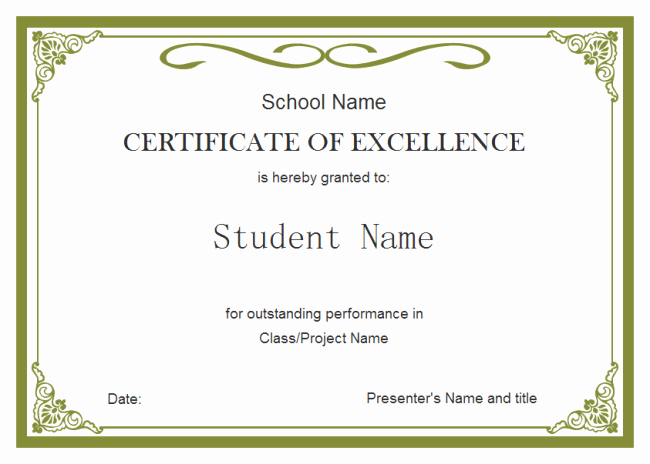 Blank Birth Certificate for School Project Best Of Student Certificate