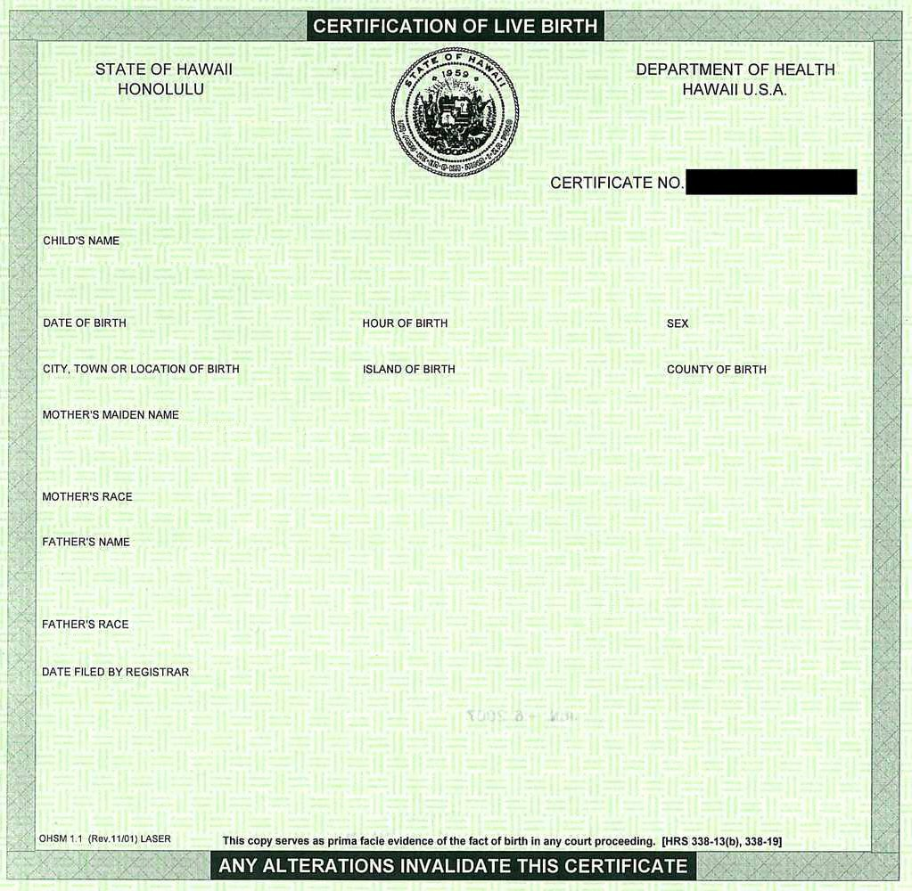 Blank Birth Certificate Images Unique Create Your Own Barack Obama Hawaiian Birth Cetification