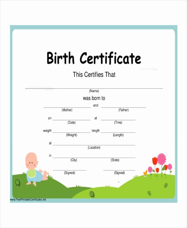 Blank Birth Certificate Pdf Fresh Free 48 Certificate Examples In Pdf