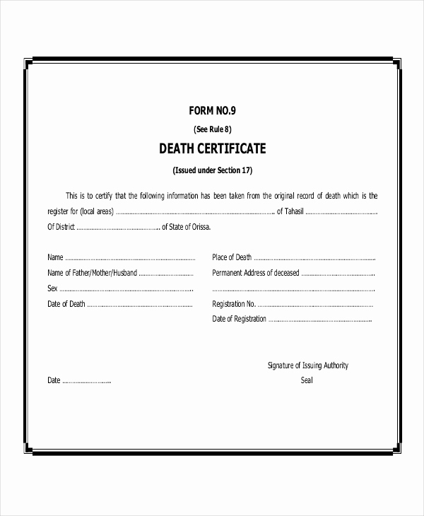 Blank Birth Certificate Pdf Unique Free 48 Certificate Examples In Pdf