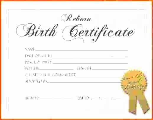 Blank Birth Certificate Template Unique Ethercard