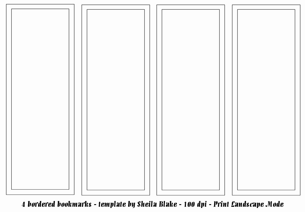 Blank Bookmark Template Word Fresh Bookmark Template Publisher