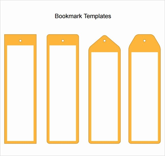 Blank Bookmark Template Word Lovely Free 6 Sample Blank Bookmarks In Pdf