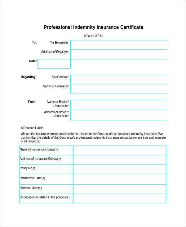 Blank Car Insurance Card Template Lovely Insurance Certificate Template – 10 Free Word Pdf