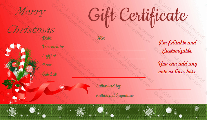 Blank Christmas Gift Certificate Template New Gift Certificate Template