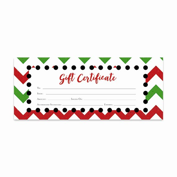Blank Christmas Gift Certificate Template Unique Items Similar to Chevron Christmas Gift Certificate