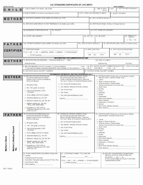 Blank Death Certificate Template Luxury 15 Birth Certificate Templates Word & Pdf Template Lab