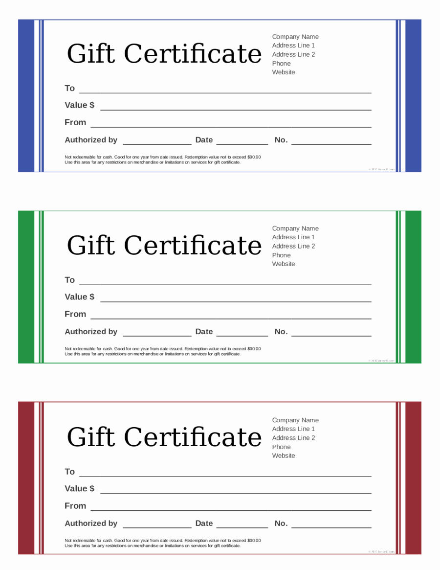 Blank Gift Certificate Paper Best Of 2019 Gift Certificate form Fillable Printable Pdf