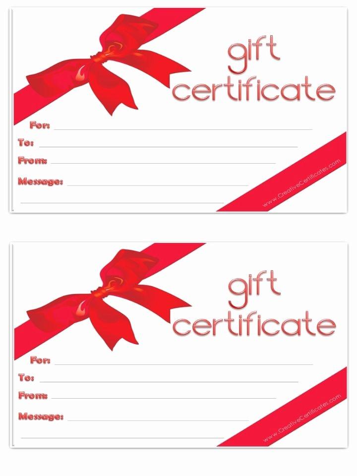Blank Gift Certificate Paper Elegant Blank T Certificate