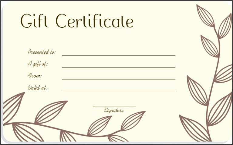 Blank Gift Certificate Paper Inspirational 5 Printable Blank Gift Certificates Sampletemplatess