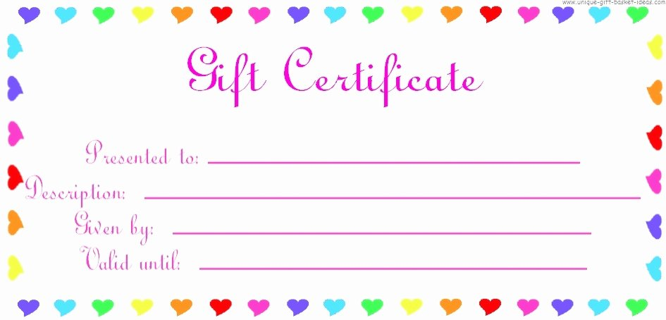 Blank Gift Certificate Paper Lovely 28 Cool Printable Gift Certificates