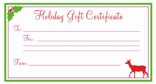 Blank Gift Certificate Paper Luxury 28 Cool Printable Gift Certificates
