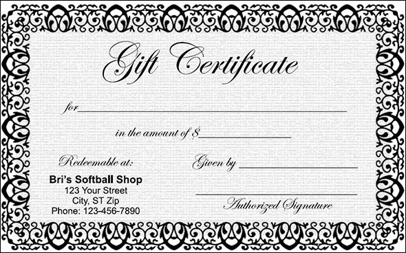 Blank Gift Certificate Paper Luxury Gift Certificate Template 29 Download Pdf Psd Word