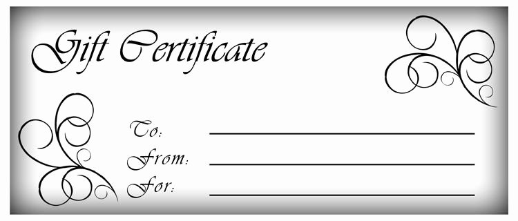 Blank Gift Certificate Paper Luxury Make Gift Certificates with Printable Homemade Gift
