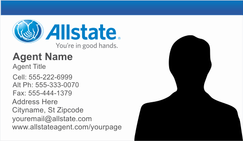 Blank Insurance Card Template Beautiful order Allstate Insurance Business Card Templates