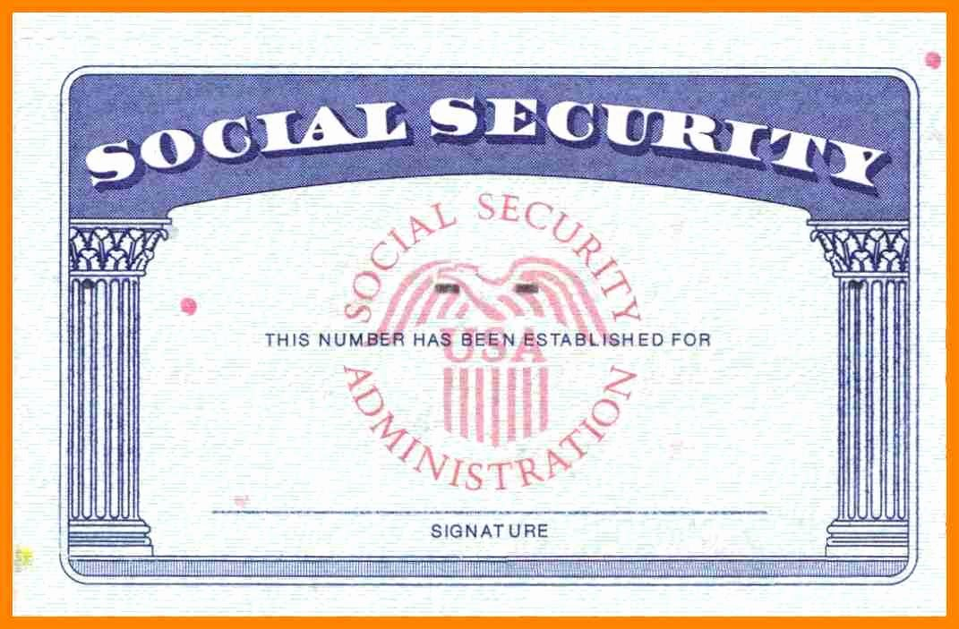 Blank Insurance Card Template New social Security Card Template