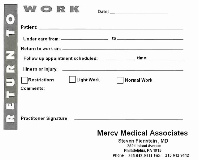 Blank Kaiser Doctors Note Awesome 8 Best Of Blank Printable Doctor Note Pdf Fake