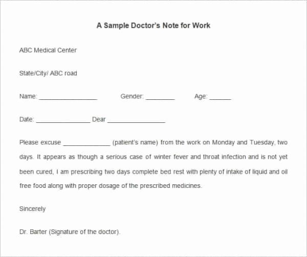 Blank Kaiser Doctors Note Luxury 40 Fake Doctors Note Template Download [pdf Doc]