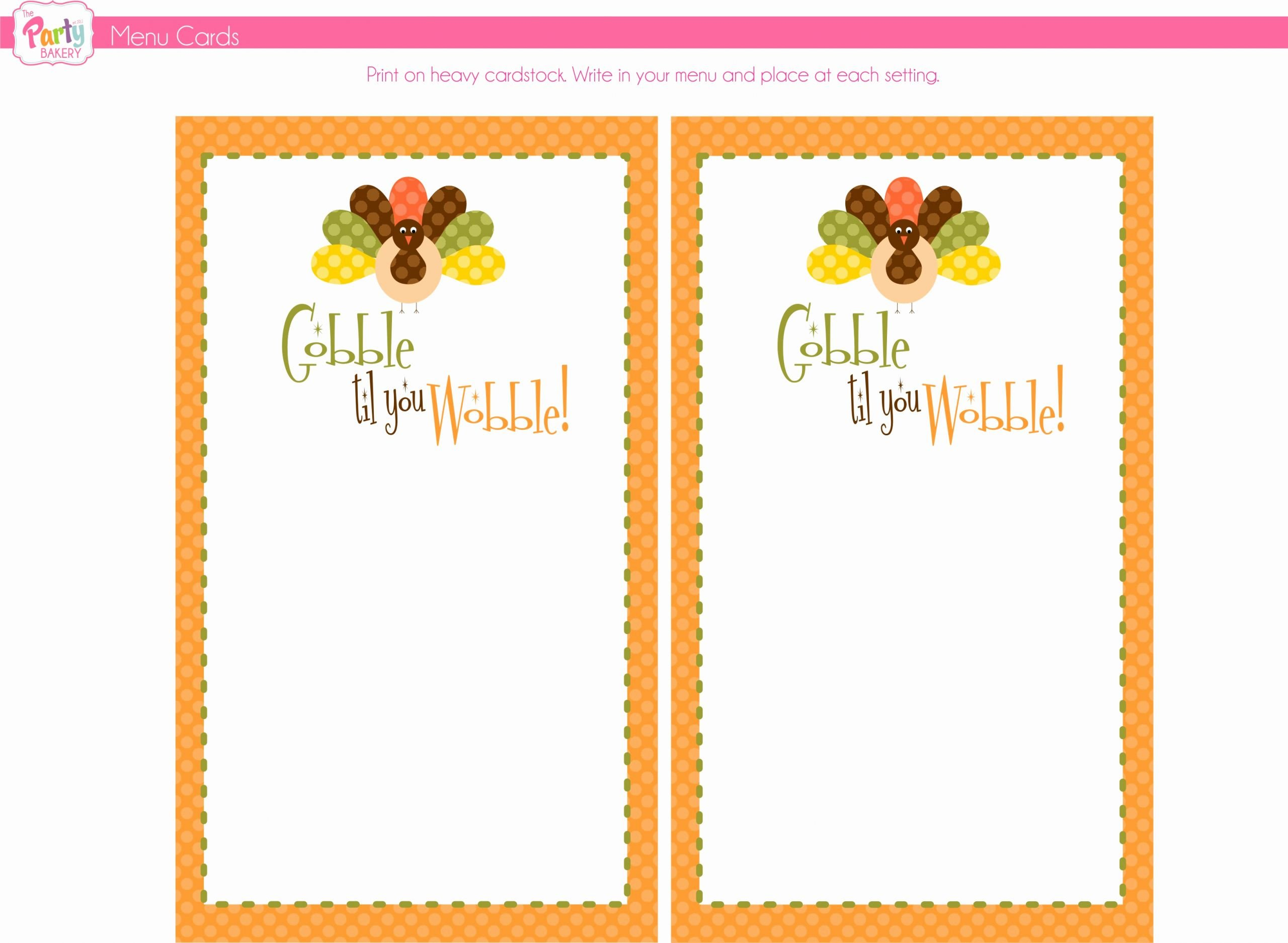 Blank Menu Template Free Awesome Free Thanksgiving Printables From the Party Bakery