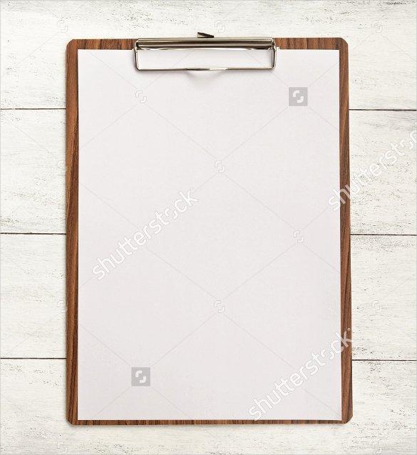sample blank menu