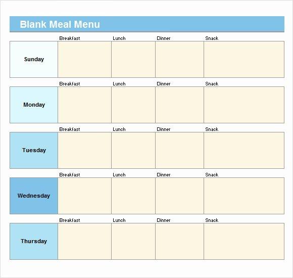 Blank Menu Template Free Elegant Sample Blank Menu Template 21 Download In Pdf Psd Eps