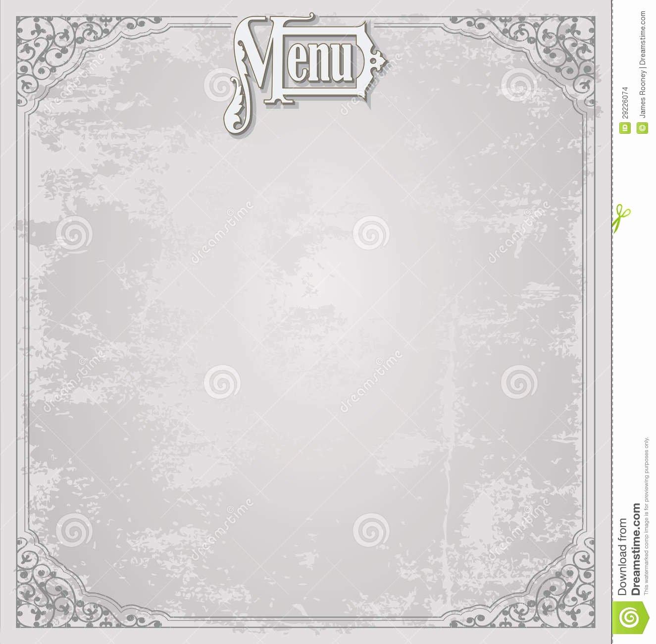Blank Menu Template Free Lovely Menu Design Template Stock Illustration Illustration Of