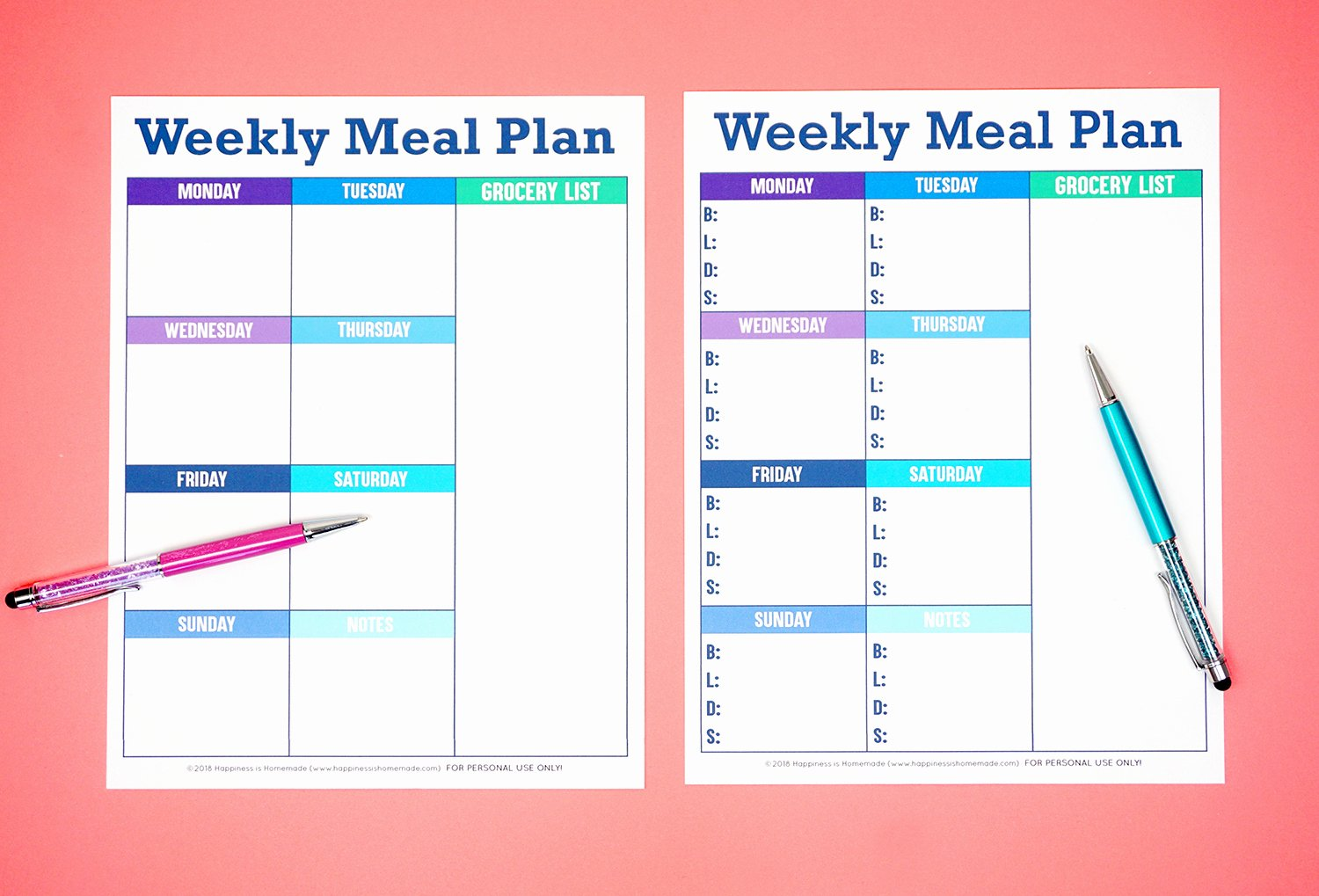 Blank Menu Template Free Lovely Printable Weekly Meal Planner Template Happiness is Homemade