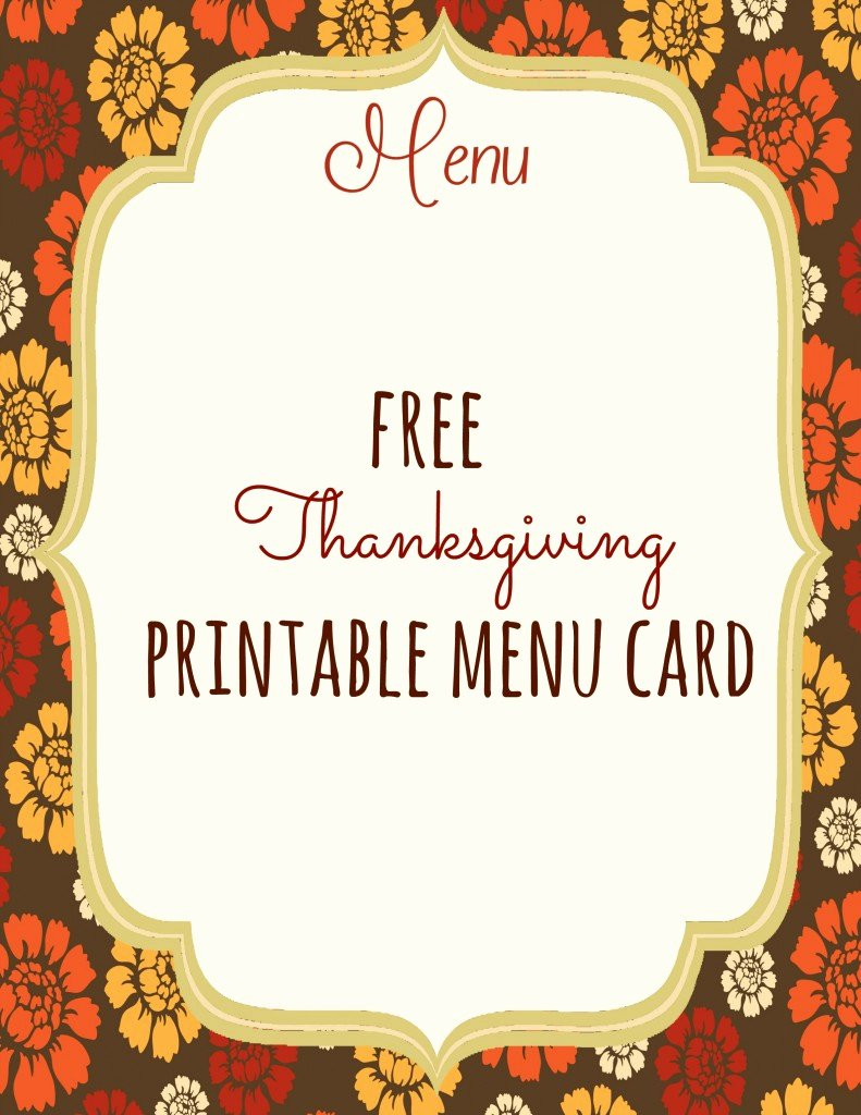 Blank Menu Template Free Luxury Free Thanksgiving Printables Frugal Fanatic