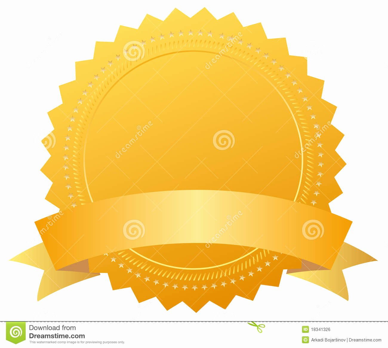 Blank Purple Heart Certificate Beautiful Blank Award Golden Medal Royalty Free Stock Image Image
