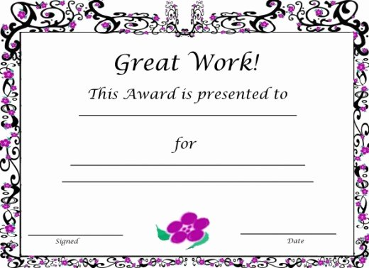 Blank Purple Heart Certificate Elegant Free Printable Award Certificates for Kids