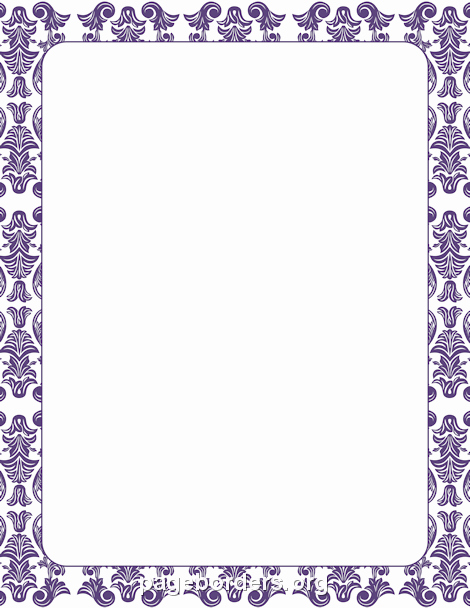 Blank Purple Heart Certificate Fresh Printable Purple Damask Border Use the Border In