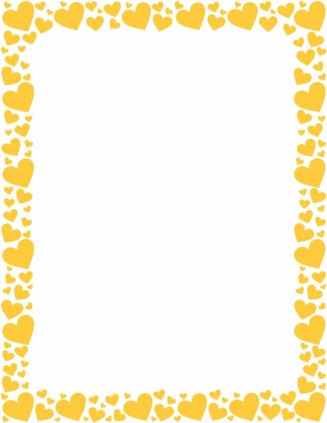 Blank Purple Heart Certificate Inspirational Printable Yellow Heart Border Free Gif Jpg Pdf and Png