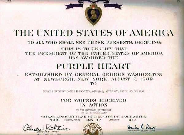 Blank Purple Heart Certificate Lovely Purple Heart Award Certificate Purple Heart Award for 1lt