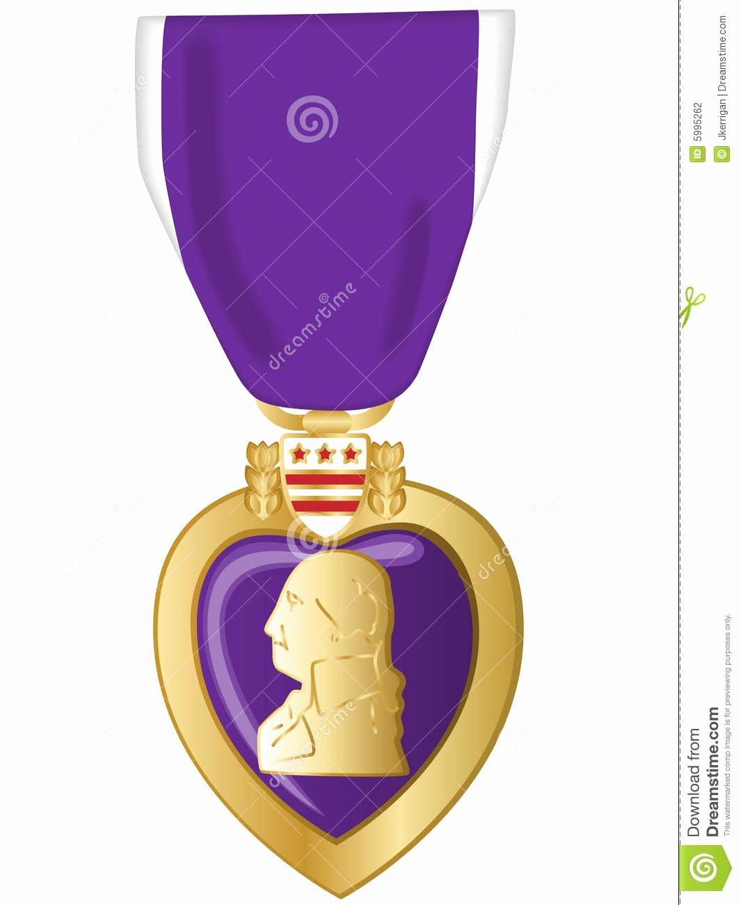 Blank Purple Heart Certificate Lovely Purple Heart Stock Graphy Image