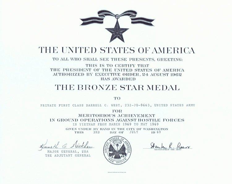 Blank Purple Heart Certificate Luxury West Virginia Veterans Memorial Darrell Charles West