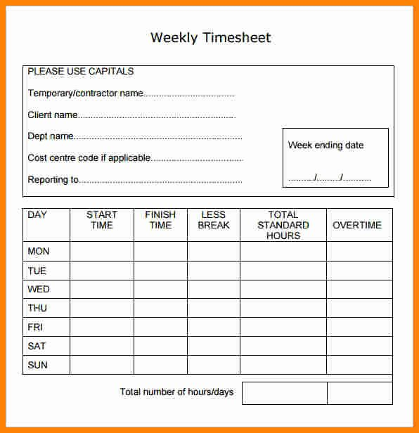 5 payroll time sheets forms