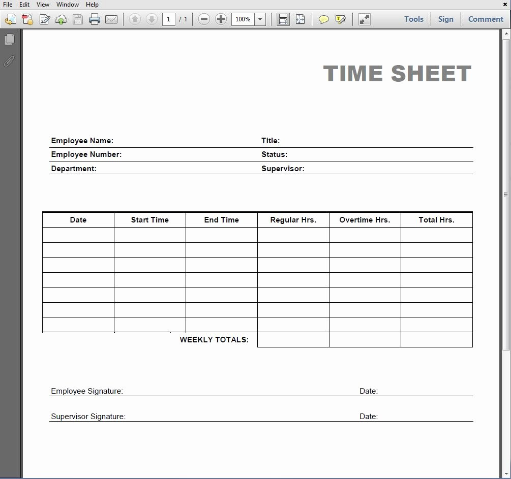 Blank Timesheet form New 8 Best Of Blank Printable Timesheets Free