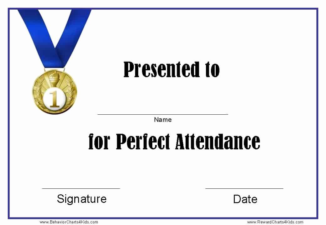 """Blue Falcon Award Certificate Pdf Unique Search Results for """"perfect attendance Template"""