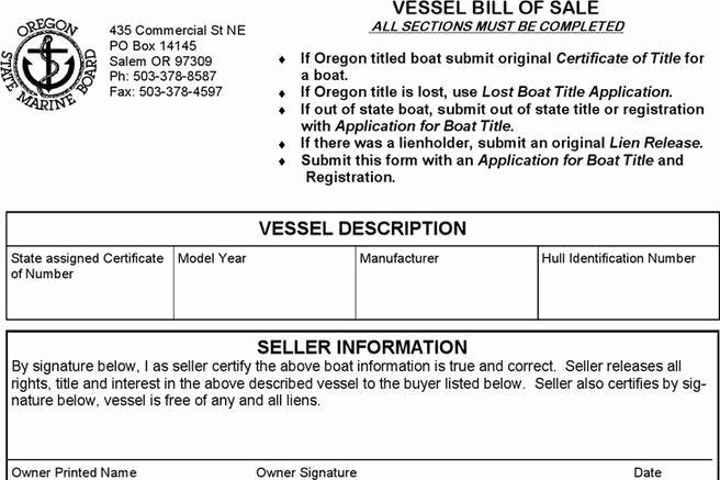 Boat Bill Of Sale Tn Unique 248 Bill Of Sale form Free Download