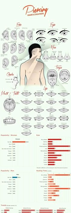Body Piercing Pain Chart Inspirational Tragus Antitragus Conch Inner Upper Outer Daith