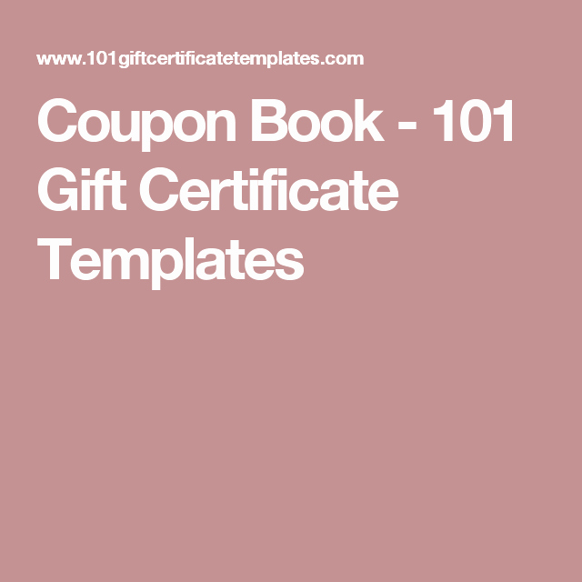 Book Fair Gift Certificate Template Fresh Coupon Book 101 Gift Certificate Templates
